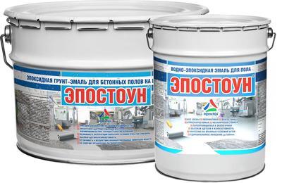 Эпостоун - водно-эпоксидная эмаль для бетонных полов (полуматовая) - main