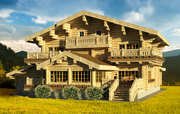 Престижные деревянные дома ручной рубки