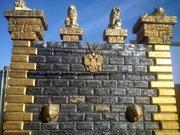 Фактурные вкладыши для стеновых блоков от производителя. - foto 1
