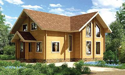 Одноэтажные дома из бруса и оцилиндрованного бревна - main
