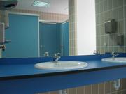 Столешницы Hpl гнутые для санузлов общественных интерьеров,  столы hpl - foto 0