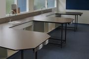 Столешницы Hpl гнутые для санузлов общественных интерьеров,  столы hpl - foto 5