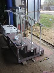Лестничные ступени,  лестничные площадки,  уличные и межэтажные лестницы - изготовление,  облицовка,  реконструкция - foto 12