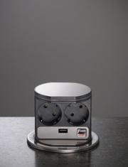 VoltPort Standard выдвижная розетка с LED подсветкой и USB зарядкой - foto 0