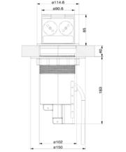 VoltPort Standard выдвижная розетка с LED подсветкой и USB зарядкой - foto 1