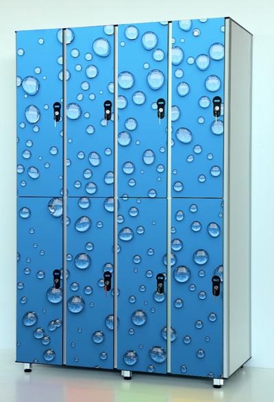 Шкафчики локеры из пластика HPL для раздевалок,  отелей,  бассейнов - main